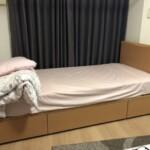 ベッドなどを片付けてもらいました。