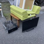 TV、ガスコンロの買取、その他不用品の片付けを行いました。